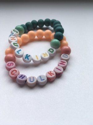 Armband met parels roze-groen