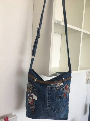 Canvas Bag dark blue-purple mixture fibre