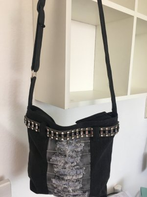 Canvas Bag black-grey mixture fibre
