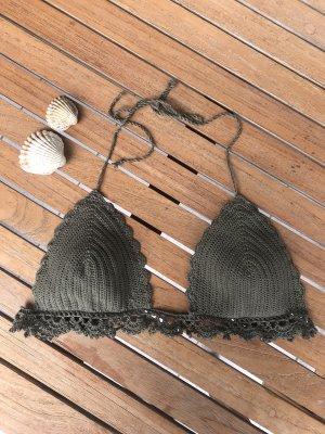 Bikini gris vert-kaki