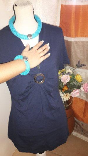 Collar estilo collier color plata-azul claro