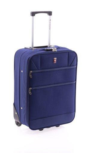 Handgepäck Koffer Trolley 55 cm mit Laptop Fach Dunkelblau