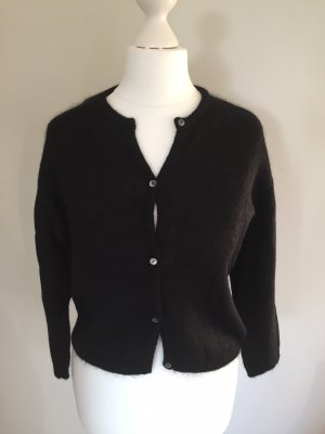 Cardigan all'uncinetto nero