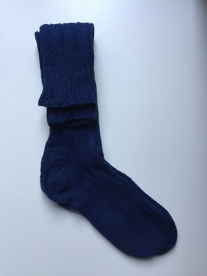 Manchetten donkerblauw-blauw Wol