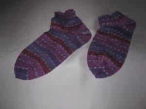 Handgestrickte Sneaker Socken aus hochwertiger Sockenwolle  *FESTPREIS*   Gr. 38/39     waschmaschinenfest      NEU