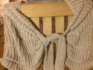 Knitted Scarf pale blue-silver-colored