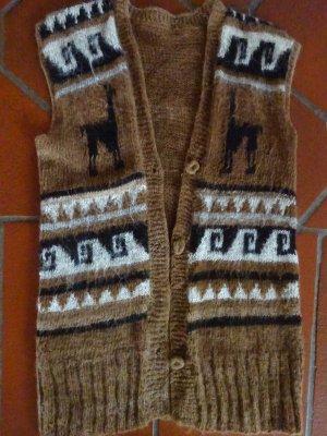 Gilet tricoté multicolore laine alpaga