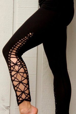 Leggings nero Cotone