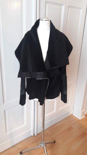 Wraparound Jacket black mixture fibre