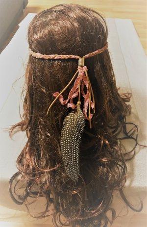 Handmade Haarband Stirnband Haarschmuck Kopfschmuck Indianer Hippie Ibiza Style NEU Haarfedern Hippes Hairstyling Hippie Leder Indian Style Ethnostil Featherheads Haare Festival Boho Federn