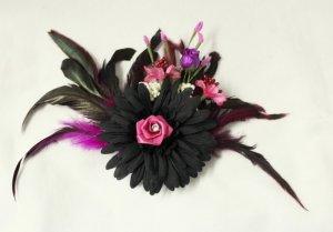 handmade Harajuku Haarklemme Blumen Burlesque Fascinator Federn Flowers