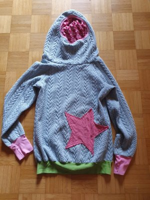 Hooded Sweater multicolored cotton