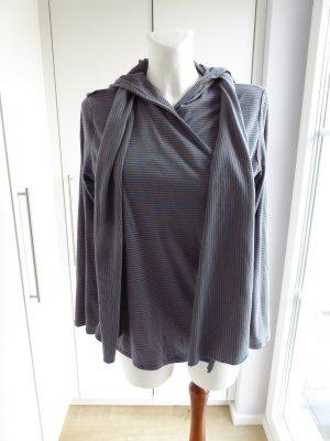handmade Kapuzenpulli m. passenden Schal aus Biobaumwolle Größe S