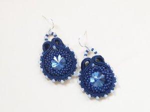 Bungeloorbellen blauw-staalblauw