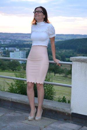 Pencil Skirt pink-light pink imitation leather