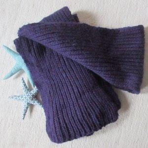 Handmade * Traum Strick Schal XXL Schurwolle * lila-violett * TOP
