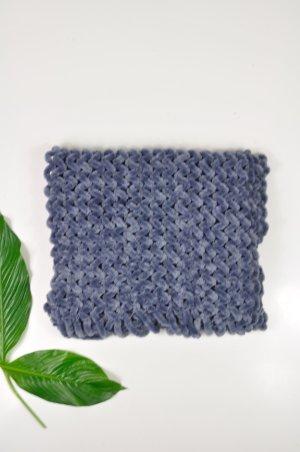 Vintage Bufanda azul-azul neón
