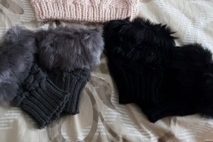 Fingerless Gloves black-grey