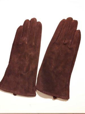 Bijou Brigitte Gloves dark red-brown red