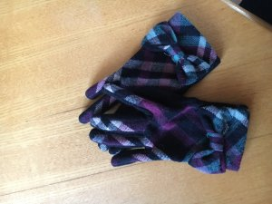 Gloves black-lilac