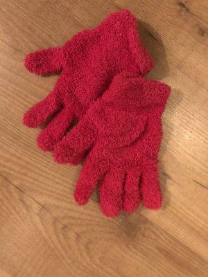 Guantes con dedos rojo frambuesa-magenta