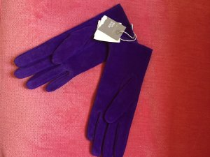 H&M Leather Gloves brown violet-lilac