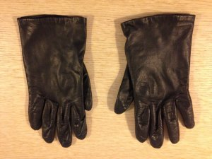 Gloves black leather