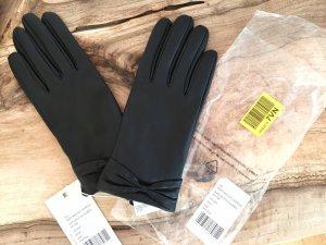 Handschuhe aus Leder mit Schleife - Ungetragen