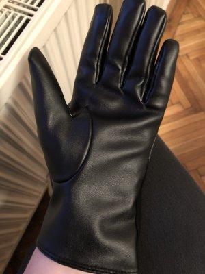 Biaggini Handschoenen van imitatieleder zwart