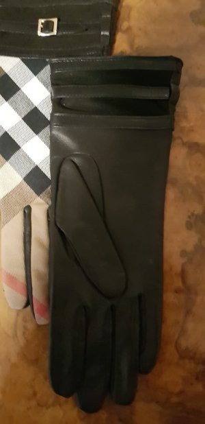Burberry Leather Gloves black
