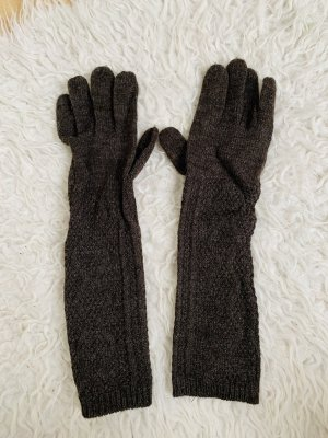 Colours of the World Knitted Gloves brown