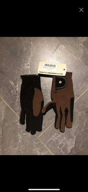 Leather Gloves black brown