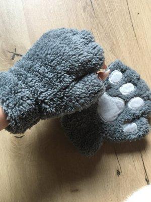 Gant à doigts gris-gris clair