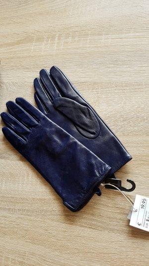 Handschuhe echtleder blau gr s