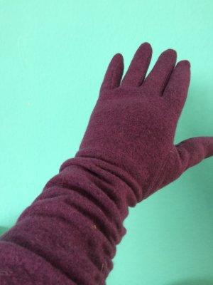 Handschuhe Gr.7 1/2 Beere+ Mütze+Schal