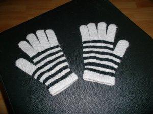 handschuhe,grau-weiss,sehr guter zustand