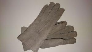Opus Gevoerde handschoenen zilver