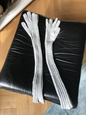 Handschuhe in Strick mit langem Arm, bzw. Stulpe, von SET, hochwertiges Material Wolle, Viskose, Kaschmir