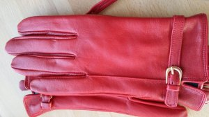 Leather Gloves red leather