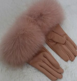 Gloves cognac-coloured-brown