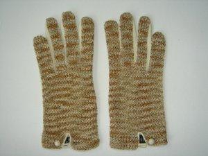 Handschuhe, Leder/Strick von Roeckl, Gr. 7,5, braun/beige