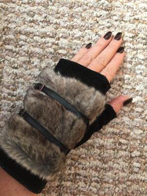 Handschuhe Leder Winter Echtfell schwarz NEU