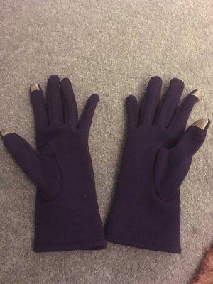 Handschuhe lila/violett dunkel – Grösse S - selten getragen
