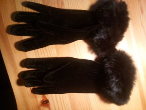 Gloves black brown