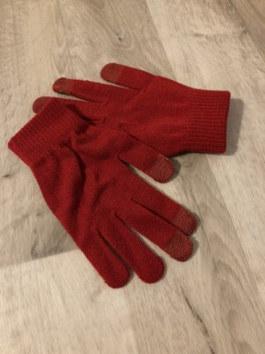 Hennes Collection by H&M Guantes con dedos rojo oscuro