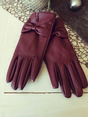 Handschoenen van imitatieleder paars
