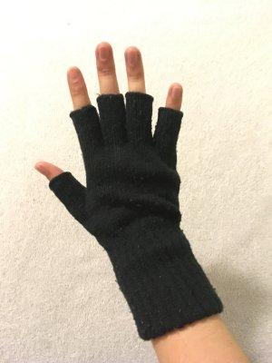 Handschuhe ohne Fingerkuppen Schwarz