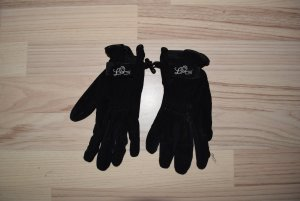 Faux Leather Gloves black polyester