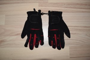 Gloves black-red polyester