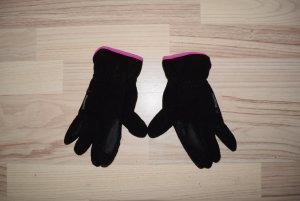 Fleece Gloves black-pink polyester